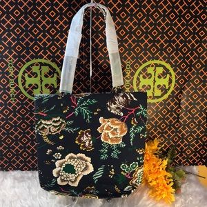 TORY BUTCH TOTE CANVAS FLORAL - NEW WITHOU TAG